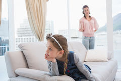 Mother and daughter not talking after argument Stock Photography