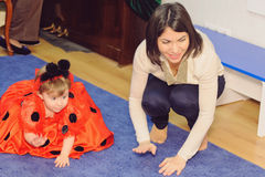 Mother and Daughter at Nursery Royalty Free Stock Photos