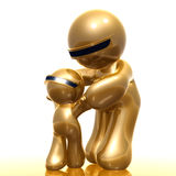 Mother and daughter nurturing icon. 3d illustration Stock Images