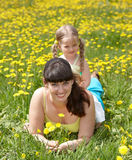 Mother with daughter in outdoor. Stock Photography