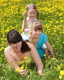 Mother with daughter in outdoor. Royalty Free Stock Photography