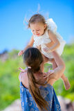 Mother and daughter outdoor Royalty Free Stock Photo