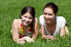 Mother and daughter outdoors Stock Photography