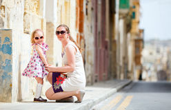 Mother and daughter outdoors Royalty Free Stock Images