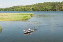 Mother and daughter paddling Royalty Free Stock Photography