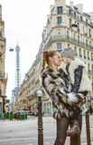 Mother and daughter in Paris, France looking at each other Royalty Free Stock Images
