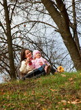 Mother and daughter in a park Stock Photography
