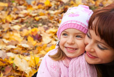 Mother and daughter in a park Royalty Free Stock Photography