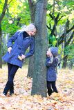 Mother and daughter in park Royalty Free Stock Images