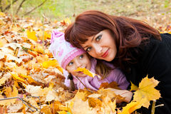 Mother and daughter in a park Royalty Free Stock Images