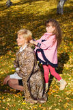 Mother and daughter in the park. Stock Photography