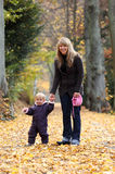 Mother and daughter in a park Royalty Free Stock Photo