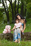 Mother with daughter in the park Royalty Free Stock Photos