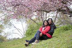 Mother and daughter. In park Royalty Free Stock Image