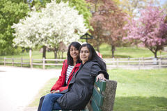 Mother and daughter. In park Royalty Free Stock Photos