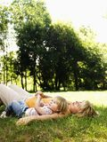 Mother and daughter in park. Stock Photography