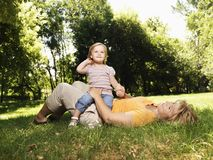 Mother and daughter in park. Stock Images
