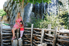 Mother and daughter in the park. Stock Image