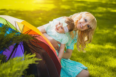 Mother with daughter in the park Royalty Free Stock Photo