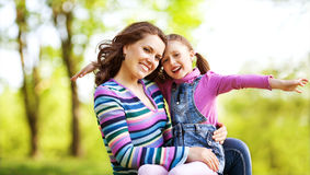 Mother and daughter in park Royalty Free Stock Image