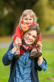 Mother and daughter in the park Stock Photos