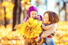 Mother and daughter in the park Royalty Free Stock Photo