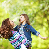 Mother and daughter in park Royalty Free Stock Photo