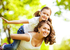 Mother and daughter in park Stock Photography