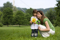 Mother and daughter in park together Royalty Free Stock Photography
