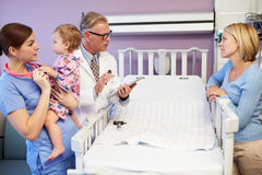 Mother And Daughter In Pediatric Ward Of Hospital Stock Photo