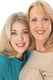 Mother daughter photo. Isolated on a white background Royalty Free Stock Photography