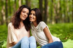 Mother and daughter at a picnic Royalty Free Stock Photo