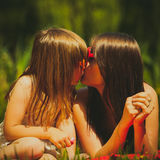 Mother and daughter on picnic. Summer leisure. Stock Image