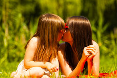 Mother and daughter on picnic. Summer leisure. Stock Images