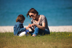 Mother and daughter playing Stock Photos