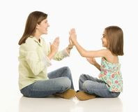 Mother and daughter playing. Stock Photo