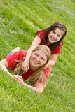 Mother and Daughter Playing Stock Photography