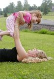Mother and daughter playing Royalty Free Stock Image