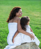 Mother and daughter are playing together. Stock Photography