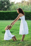 Mother and daughter are playing together. Royalty Free Stock Photography
