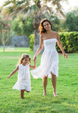 Mother and daughter are playing together. Stock Image