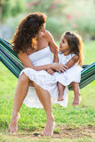 Mother and daughter are playing together. Royalty Free Stock Photo