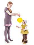 Mother daughter playing royalty free stock images