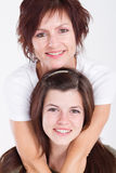 Mother daughter portrait Stock Photos