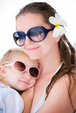 Mother and daughter portrait Royalty Free Stock Photo