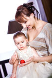 Mother and daughter portrait Royalty Free Stock Image