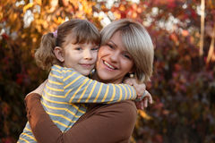Mother and daughter portrait Stock Images