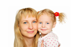 Mother and daughter portrait. Stock Photos