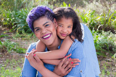 Mother and daughter. Portrait fun moments royalty free stock photography