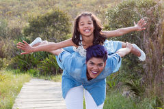 Mother and daughter. Portrait fun moments stock images